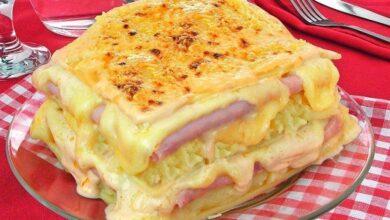 Photo of Receita de lasanha de batata com molho branco