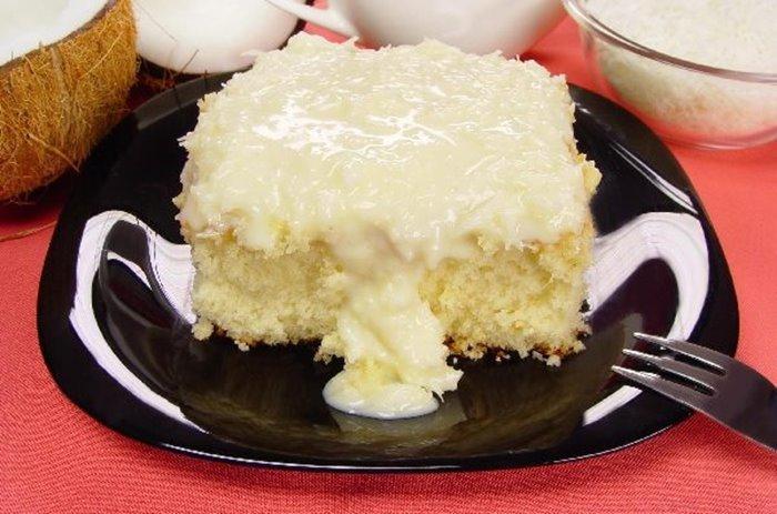 Receita de bolo de leite com coco - Receita de bolo de leite com coco