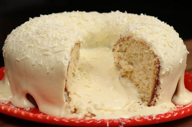 Receita de bolo vulcao de leite ninho - Receita de bolo vulcão de leite ninho