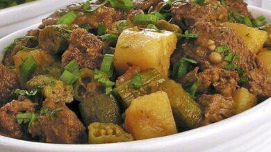 Photo of Carne moída com quiabo e batata