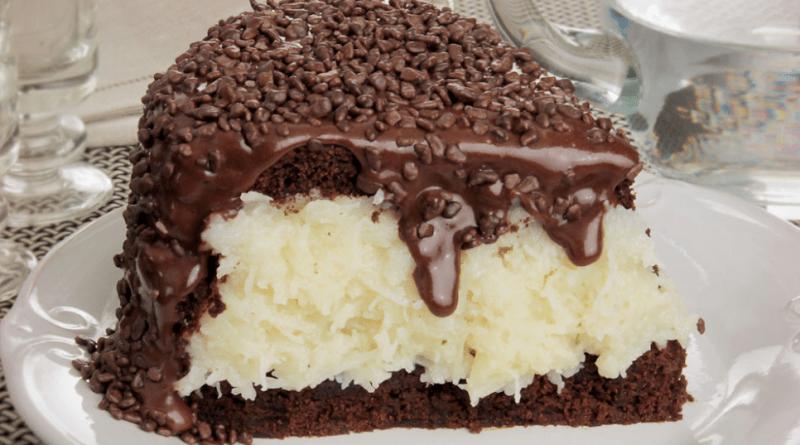 Torta prest%C3%ADgio cremosa super f%C3%A1cil e Deliciosa vem - Torta prestígio cremosa super fácil e deliciosa