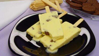 Photo of Picolé de Creme com Biscoito